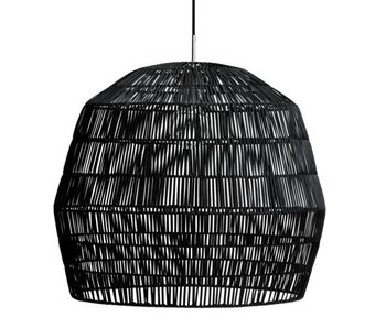 Ay Illuminate Hanging lamp Nama 2 black rattan ø58cm