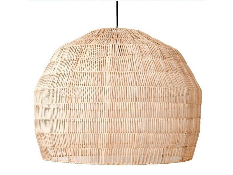 Ay Illuminate Hanging lamp Nama 3 natural rattan ø72cm