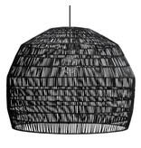 Ay Illuminate Hanglamp Nama 3 zwart rotan ø72cm