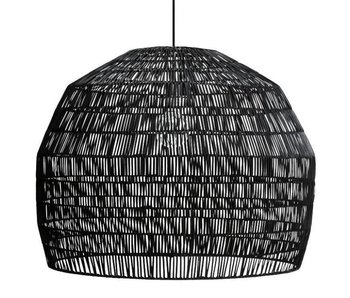 Ay Illuminate Lámpara colgante Nama 3 ratán negro ø72cm