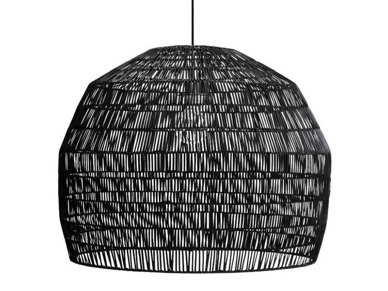 Ay Illuminate Hanging lamp Nama 3 black rattan ø72cm