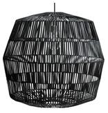 Ay Illuminate Hanglamp Nama 4 zwart rotan ø72cm