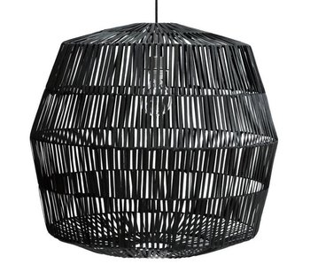 Ay Illuminate Lámpara de suspensión Nama 4 ratán negro ø72cm