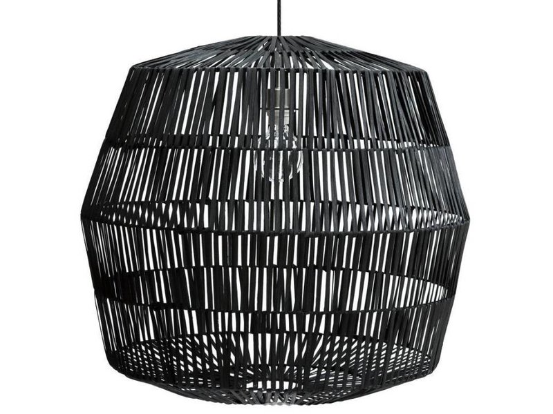 Ay Illuminate Hanging lamp Nama 4 black rattan ø72cm