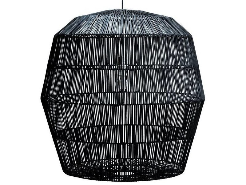 Ay Illuminate Hanging lamp Nama 5 black rattan ø78cm