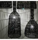Ay Illuminate Hanglamp Umut 3 zwart rotan ø35cm