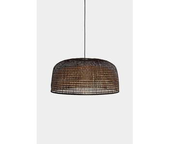 Ay Illuminate Hanging lamp Doppio Grid dark bamboo ø80cm