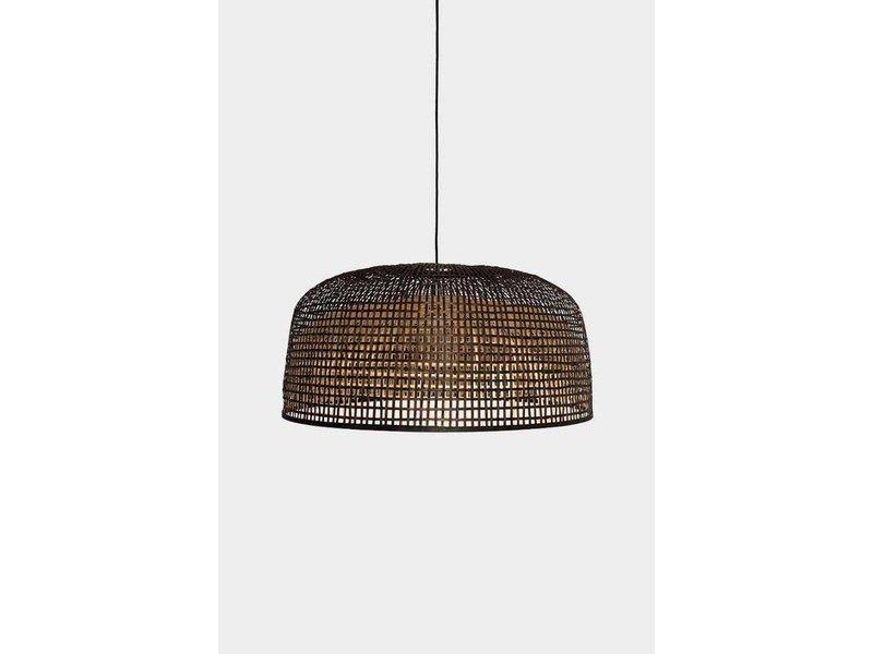 Ay Illuminate Hanging lamp Doppio Grid dark bamboo ø80cm