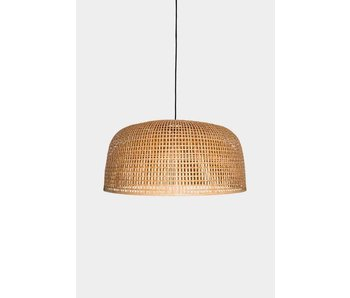 Ay Illuminate Hanging lamp Doppio Grid natural bamboo ø80cm
