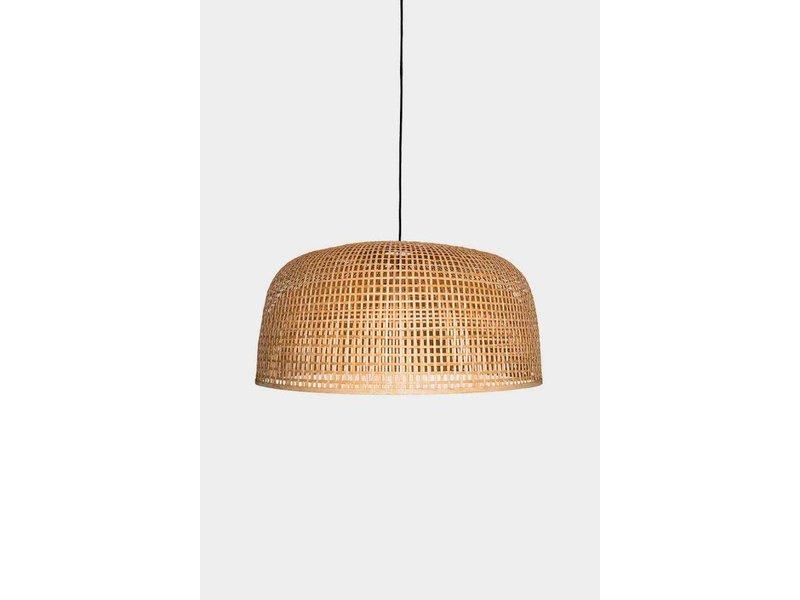 Ay Illuminate Hanging lamp Doppio Grid natural bamboo ø80cm