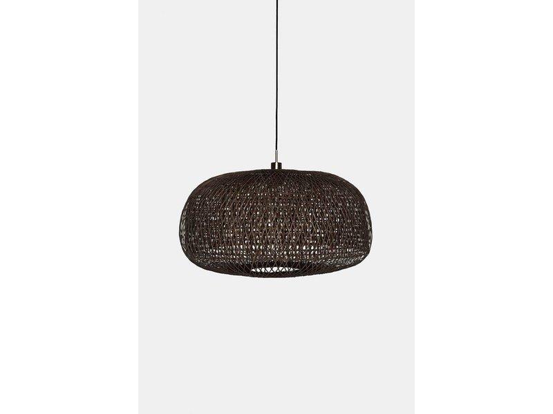 Ay Illuminate Hanging lamp Doppio Facet dark bamboo ø78cm