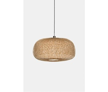 Ay Illuminate Hanging lamp Doppio Faceted natural bamboo ø78cm