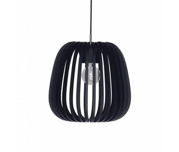 Ay Illuminate Hanging lamp Bamboo M10 black ø38cm
