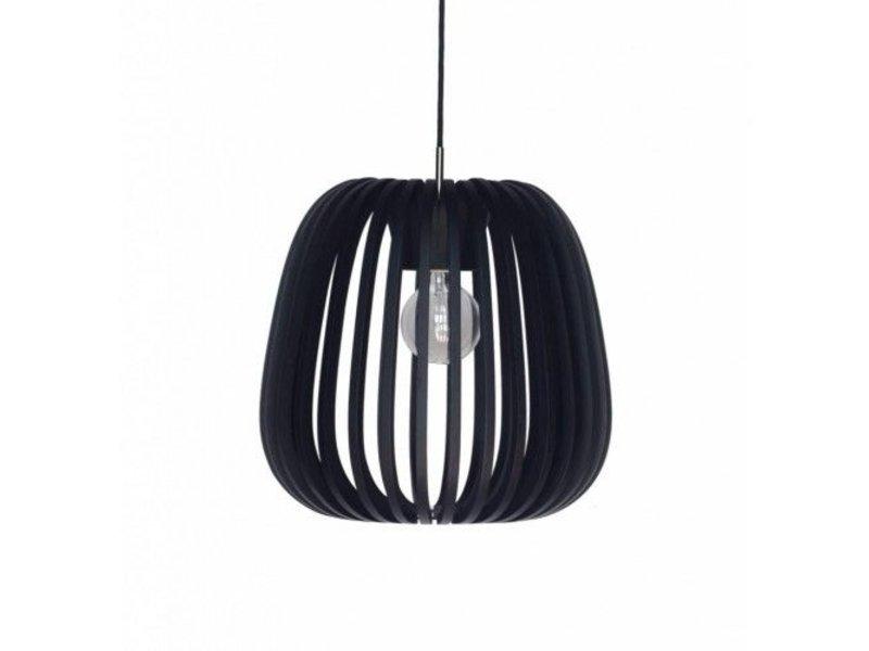 Ay Illuminate Hanging lamp Bamboo M10 black ø38cm