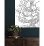 KEK Amsterdam Behangpaneel Engraved Flowers