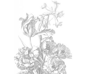KEK Amsterdam Panneau de papier peint Fleurs gravées