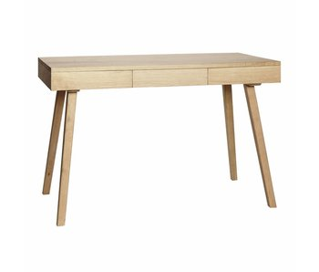 Hubsch Desk wood with 3 drawers