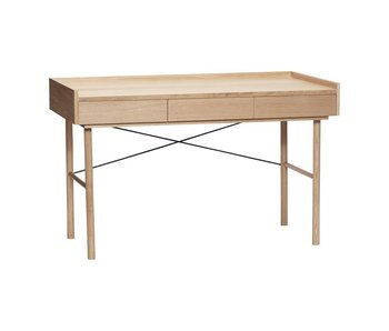 Hubsch Desk with 3 storage drawers of wood