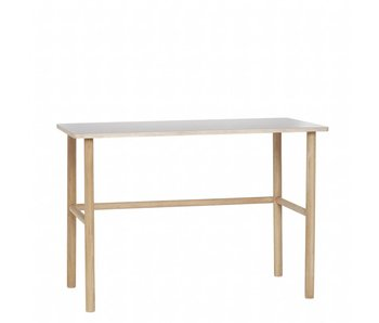 Hubsch Office wood with gray tabletop