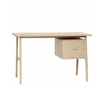 Hubsch Bureau avec 2 tiroirs de rangement en bois