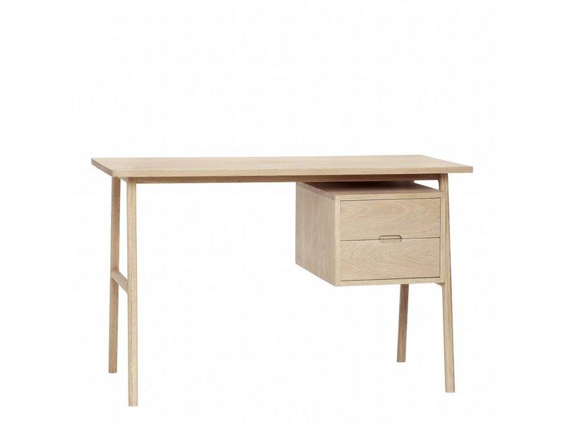 Hubsch Skrivbord med 2 förvaringslådor av trä