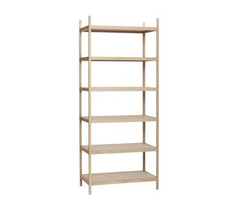 Hubsch Storage cabinet wood with 6 shelves