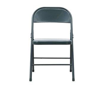 House Doctor Chaise pliante Fold It en métal gris - set de 6 pièces