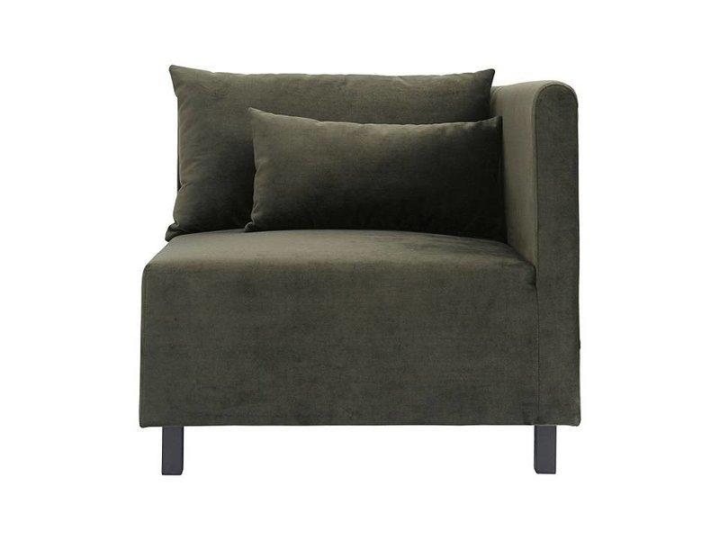 House Doctor Casa 10 soffan sammet grön