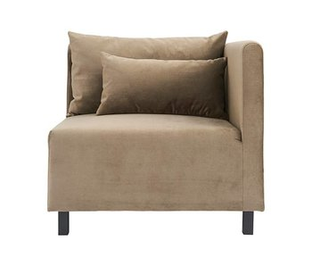 House Doctor Casa 10 bank velvet beige