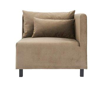 House Doctor Casa 10 sofa fløjl beige