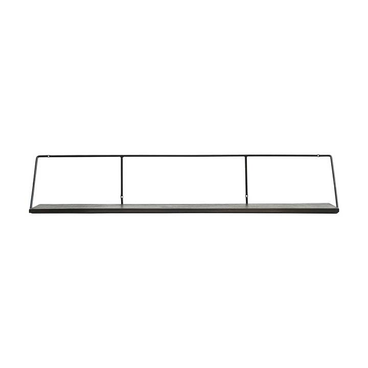 Wandplank Zwart Metaal.House Doctor Wired Wandplank Zwart 130cm Living And Co
