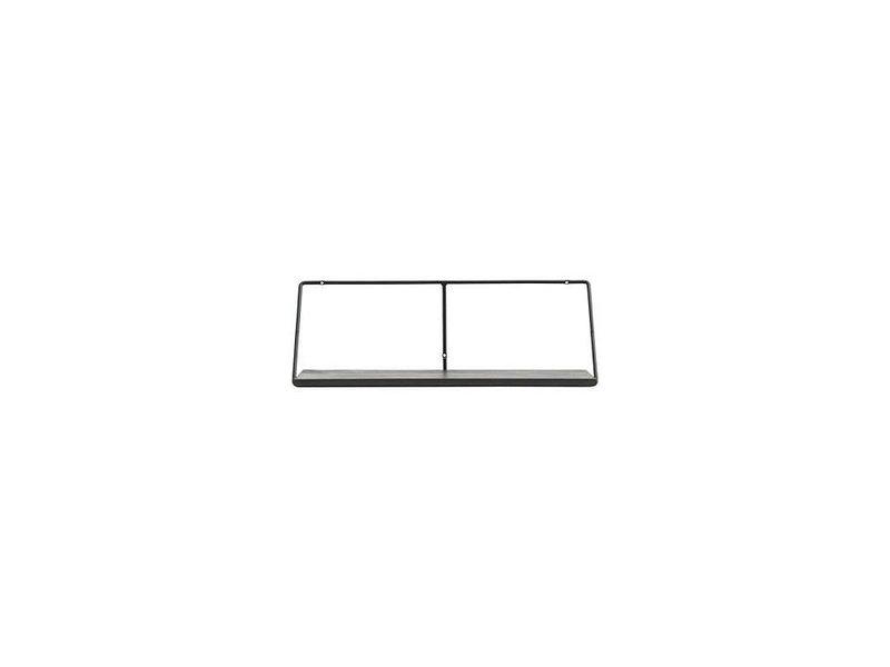 Wandplank Zwart Metaal Hout.House Doctor Wired Wandplank Zwart 70cm Living And Co