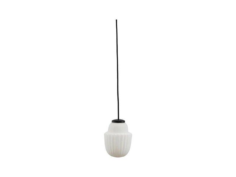 House Doctor Acorn hanglamp wit glas Ø13,5cm