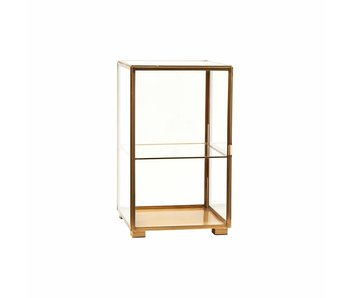 House Doctor Brass glass cabinet