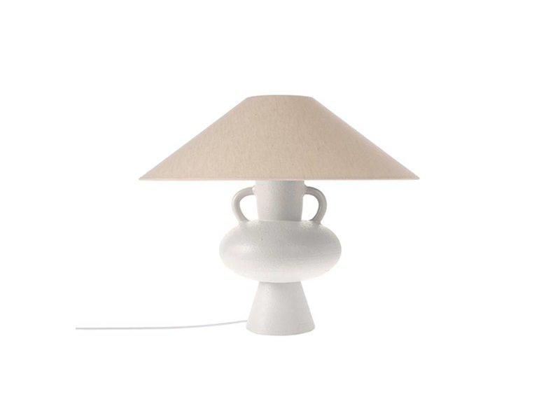 HK-Living Lampvoet wit aardewerk 24x24x38cm