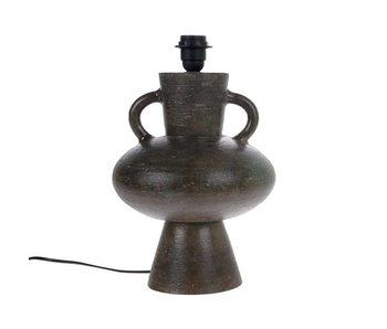 HK-Living Pied de lampe en faïence grise 24x24x38cm