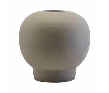 House Doctor Vase Bobble en faïence gris foncé Ø23,5cm