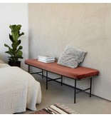 House Doctor Comma bank metaal roest 160x50x45,5cm