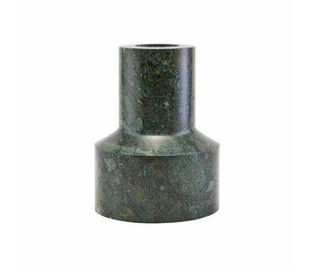 House Doctor Chunk lysestage grøn marmor Ø12cm