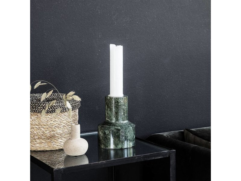 House Doctor Chunk candlestick green marble Ø12cm