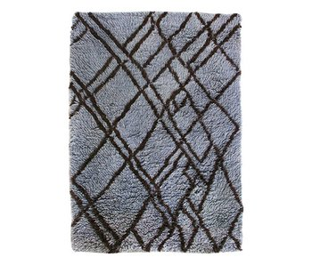 HK-Living Carpet gray / blue wool 180x280cm