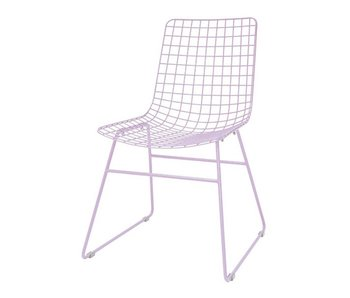 HK-Living Metal wire chair lilac