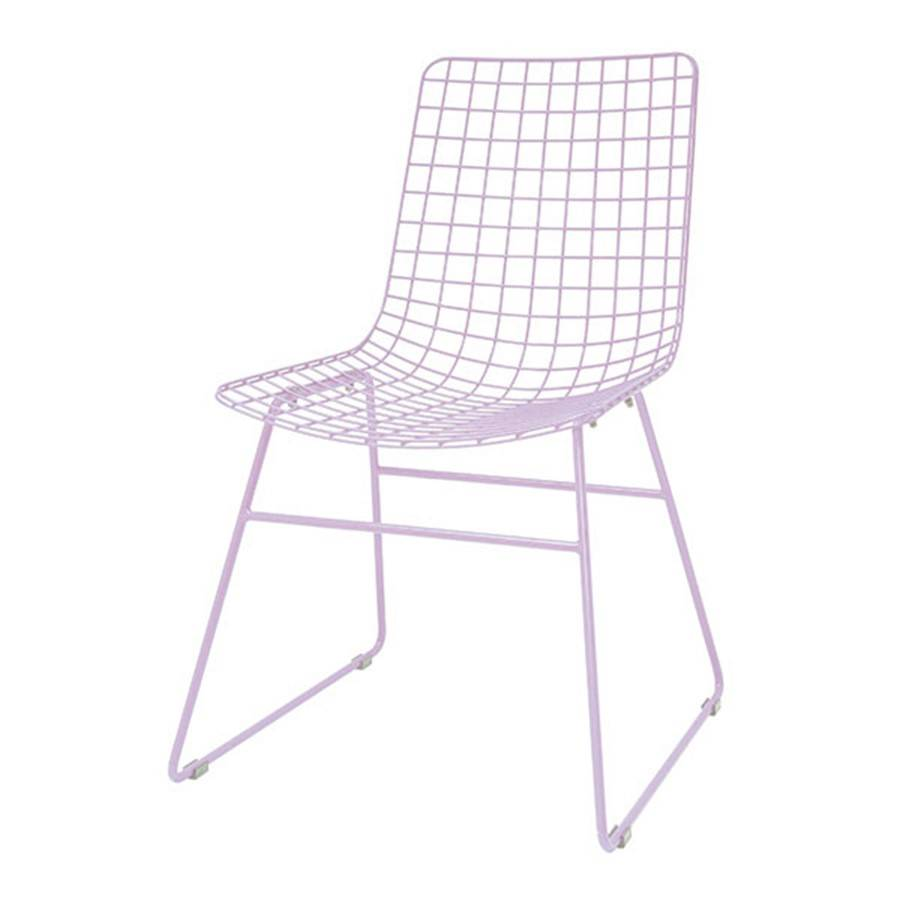 HK Living Metal wire chair lilac