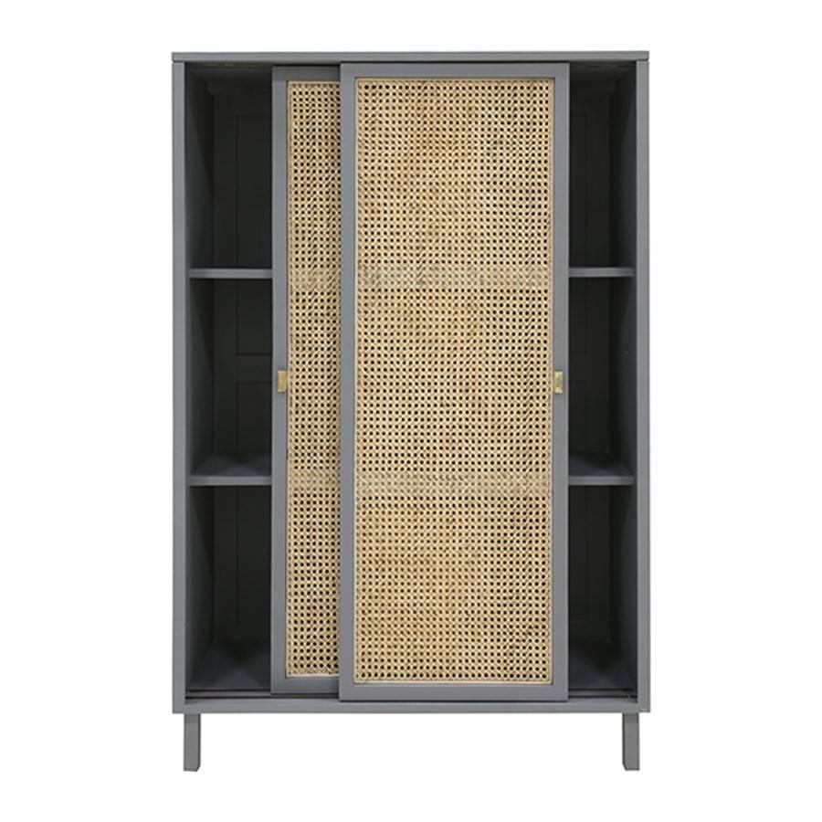 fd7ec514a0d531 HK-Living Retro webbing cabinet sliding doors grey - LIVING AND CO.