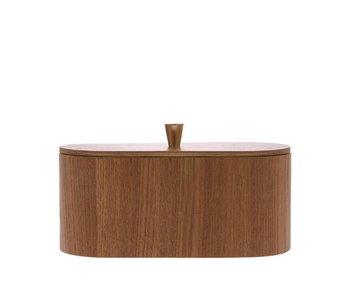 HK-Living Boîte de rangement en bois avec bouton en laiton