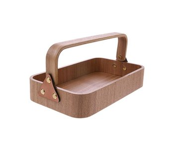 HK-Living Wooden storage box with handle