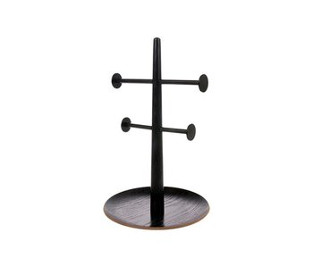 HK-Living Jewelry rack black wood metal