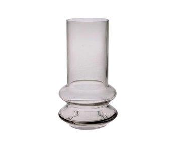HK-Living Vase à fleurs en verre gris