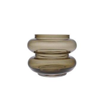 HK-Living Bloemenvaas glas bruin