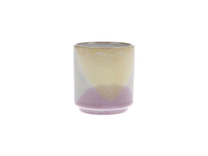 HK-Living Gallery coffee mug lilac yellow - set of 6 pieces